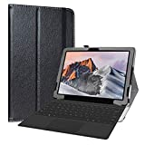 Labanema Custodia per TECLAST X6 Pro, PU Pelle Slim Flip Case Cover Protettiva Pieghevole Stand per 12.6' TECLAST X6 Pro 2 in 1 Laptop Tablet - Nero