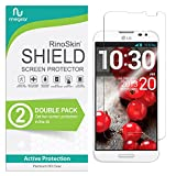 (2-Pack) RinoGear Screen Protector for LG Optimus G Pro E980 Case Friendly LG Optimus G Pro E980 Screen Protector Accessory Full Coverage Clear Film