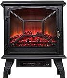 NaoSIn-Ni Chimenea de Calentador de Estufa eléctrica portátil, Fuego eléctrico con Efecto de Llama de Madera de Madera 3D...