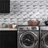 LUOWAN 10 hojas de vinilo decorativo para azulejos de baño y...