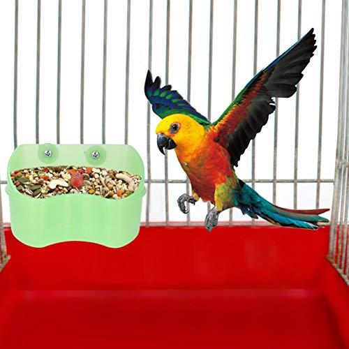 SALUTUYA Durable Green Mountable Feeder für Futter oder Wasser für Papageien