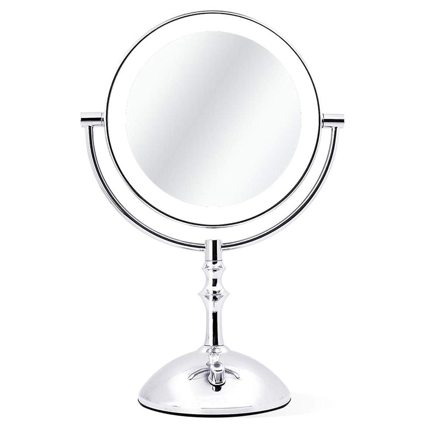スポット盲目ベーシックLED化粧鏡デスクトップライト化粧鏡プラグイン調光プリンセスミラー虚栄心鏡虚栄心ミラー