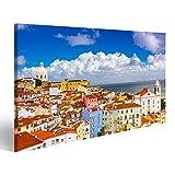 Bild Bilder auf Leinwand Lissabon Portugal Stadtbild im