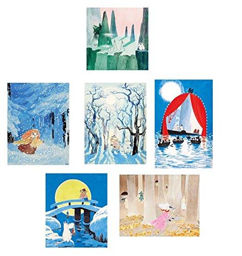 Mumin Postkarten-Set, 6 Stück