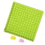 Almohadilla de plantilla de impresión 3D Gran lápiz 3D Herramientas de dibujo Impresión 3D Almohadilla de silicona Alfombrilla de diseño de silicona Verde para niños adultos con 2