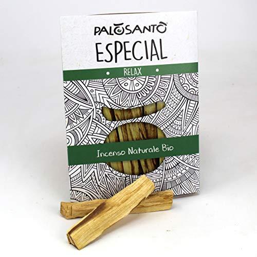 Incienso Natural Palo Santo - Palitos Variedad Especial - 5 Palitos - Aroma para la meditación, la Lectura, la relajación - Original Bursera Graveolens