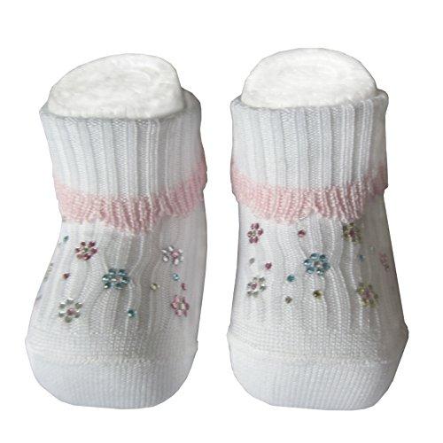 Bianchi Sockmaker in Italy since 1932 Baby Mädchen (0-24 Monate) Socken weiß Bianco Einheitsgröße, mehrfarbig, 1SC0002-Bianco-Cielo-unica