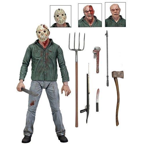 Friday The 13th, Parte 3 Jason Battle Damage Viernes 13, Figura de 18 cm