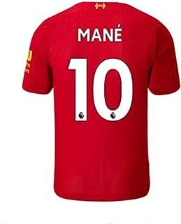 Liverpool Home 2019/2020 Season Mens Soccer Jerseys #10 Mane Colour Red