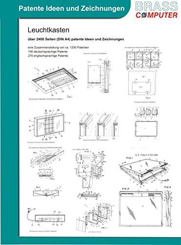 Leuchtkasten, über 2400 Seiten (DIN A4) patente Ideen und Zeichnungen