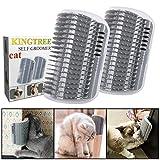 Kingtree 2 PCS Cat Self Groomer, Cats Corner Groomer Wall Corner Massage Comb