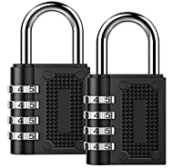 Combination Lock BeskooHome Security Padlock - [2-Pack] Weather Proof Padlock with 4-Digit Smooth Di...