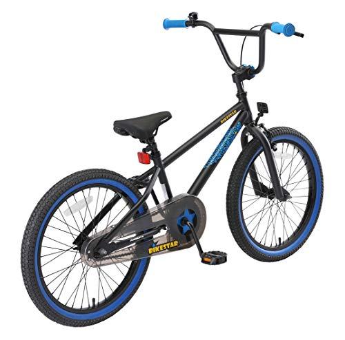 BIKESTAR Kinderfahrrad für Mädchen und Jungen ab 6-7 Jahre | 20 Zoll Kinderrad Kinder BMX Freestyle | Fahrrad für Kinder Schwarz & Blau - 3