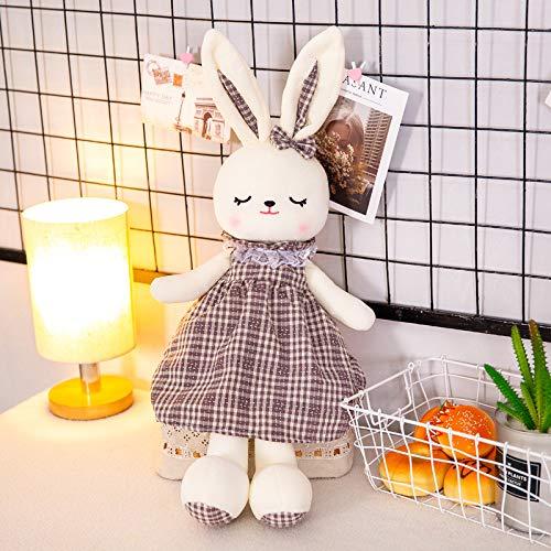 NOVELOVE Bunny Comfort Doll Baby Sleep con Conejo de Peluche muñeca decoración de la habitación 50cm 0.15kg Violeta