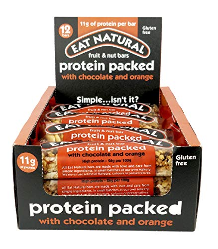 Eat Natural Protein Packed with Chocolate & Orange [Pack Size 12 x 45g]