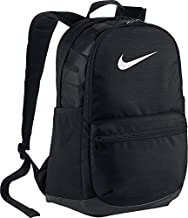 NIKE Brasilia Medium Backpack, Black/Black/White, Misc
