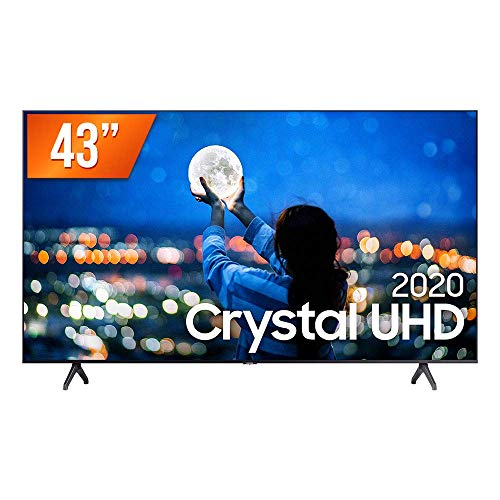"Smart TV LED 43"" UHD 4K Samsung UN43TU7000GXZD, Processador Crystal 4K, HDR, Borda Infinita, Controle Remoto Único, Bluetooth, Visual Livre de Cabos"