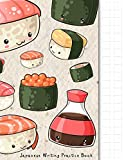 Japanese Writing Practice Book: Kawaii Sushi Themed  Genkouyoushi Paper Notebook to Practise Writing Japanese Kanji Characters and Kana Scripts such ... Cornell Notes (Japanese Writing Notebooks)