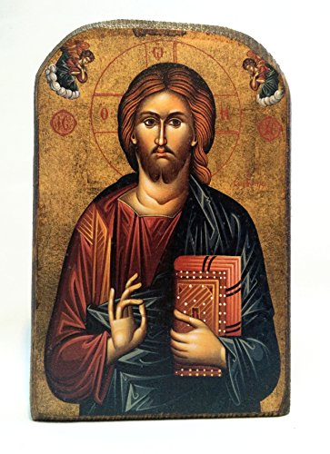 MP2_5 Holztafel Jesus Christus am Berg Athos, griechisch-christlich-orthodox, von Hand gefertigt