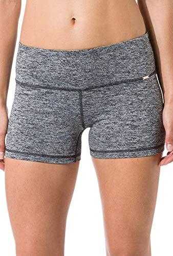 Skiny Damen Shorts Yoga & Relax Hot Pants, Mehrfarbig (Black Grey Melange 5781), 40