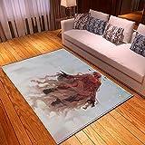 LGXINGLIyidian Casa Tappeto Creative Dark Demon Skull Series Tappeto Morbido Antiscivolo per La Decorazione della Casa con Stampa 3D T-1736K 160X230Cm