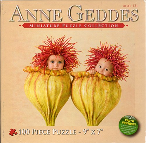 Anne Geddes Miniature Puzzle Collection 100 Pc 7 X 9 Puzzle - 2 Babies in Flower Blossoms by Anne Geddes