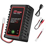NiMH/NiCd Battery Charger for 2-8s Nimh/Nicd Battery Packs with Standard/Mini Tamiya Connector RC Charger for RC Hobbies Charging Current 1000mA/2000mA