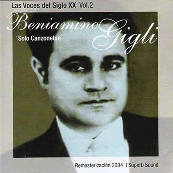 Las Voces Del Siglo XX, Vol. 2: Solo Canzonetas