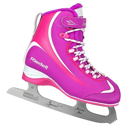 Riedell Skates - 615 Soar Jr - Youth Soft Beginner Figure Ice Skates | Pink & Purple | Size 3 Junior