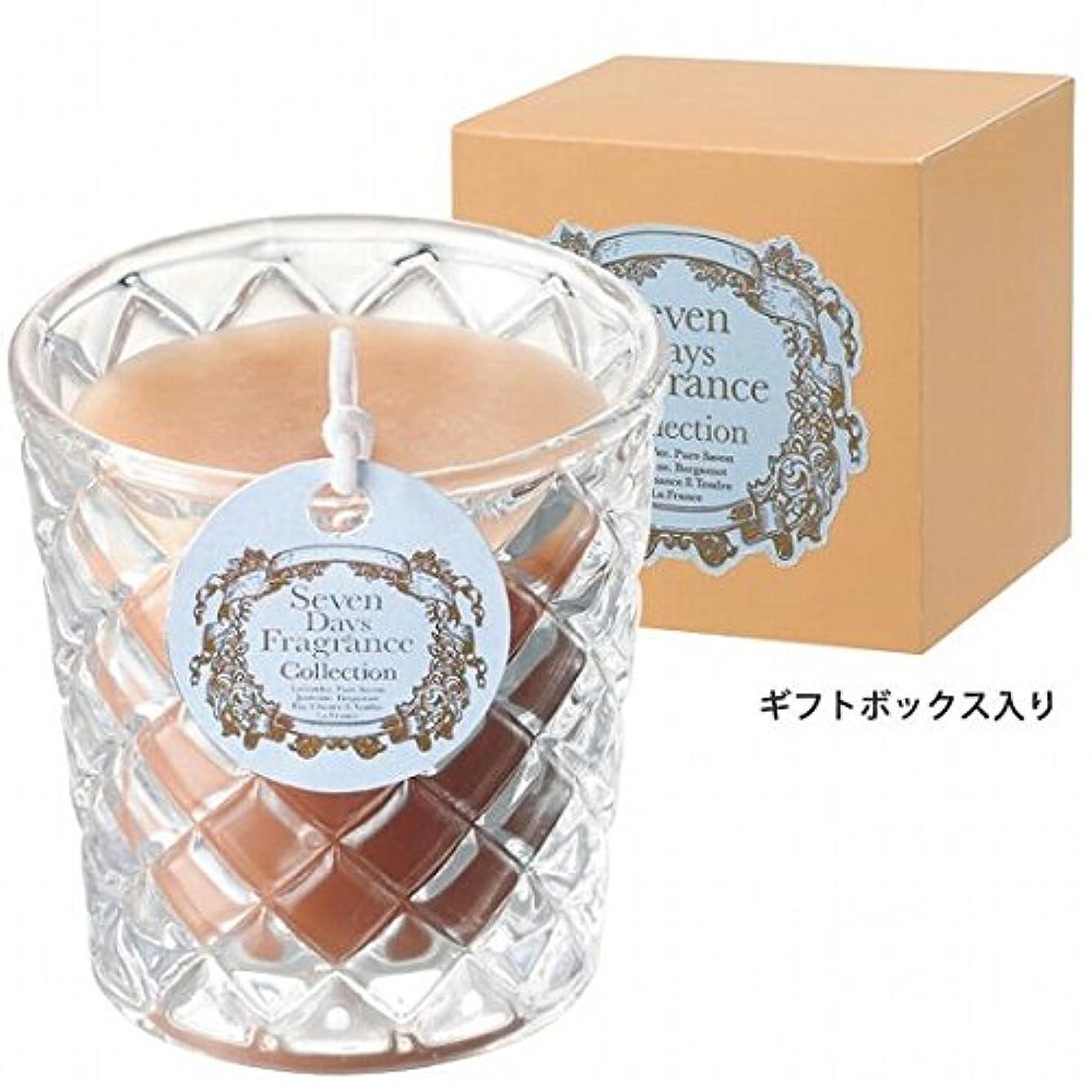 裁定バンド巨大なカメヤマキャンドル( kameyama candle ) セブンデイズグラスキャンドル(火曜日) 「 ジャスミン 」