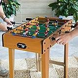 Cikonielf - Futbolín, mesa de fútbol para niños, de madera, 69 x 65 x 37 cm