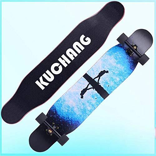 YSCYLY Kinder Retro Skateboard,Longboard Professionelles Road Dance Board,FüR AnfäNger Kinder Jugendliche Und Erwachsene