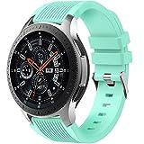 Dirrelo Cinturino Compatibile con Samsung Galaxy Watch 3 45mm/Galaxy Watch 46mm/Huawei GT 2 46mm, 22mm Sportivi Cinturini Morbido Silicone Ricambio per Samsung Gear S3 Frontier, Uomo Donna, Menta