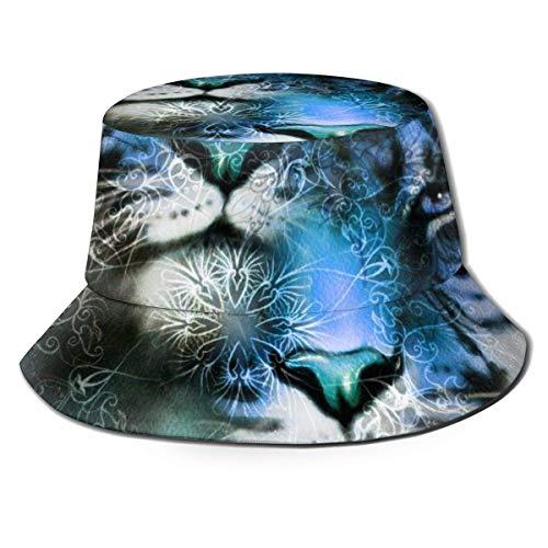 Gorra de Sombreros Transpirables de Tapa Plana Gorra de Tigre Unisex e