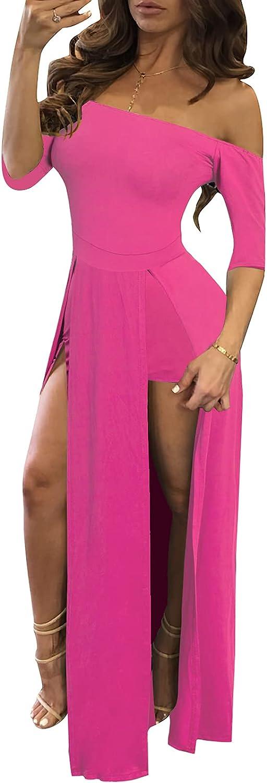 Romper Split Quality inspection Maxi Dress High Elasticity Print Tulsa Mall Short Floral Jumps