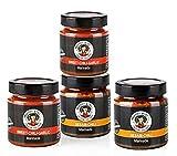 MAMA WONG TryMe Set Marinaden, 2 x Sesam-Chili, 2 x Sweet-Chili-Garlic (je 200 ml) | Zum Marinieren, Würzen und Verfeinern, ohne Konservierungs-, Aroma- und Zusatzstoffe