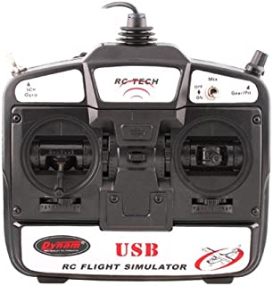 New RC Tech 6 CH Flight Simulator Remote Control w/ Software for Helicopters/ Airplanes