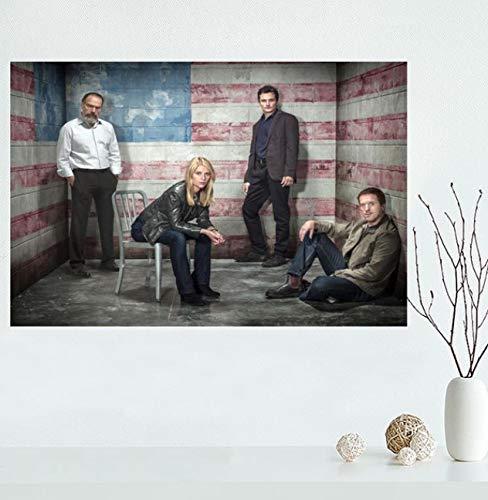 YOUCAIHUA Homeland Staffel 6 Leinwand Malerei Poster Wohnkultur Schlafzimmer Wohnzimmer Bar Wandkunst Poster 40 * 60cm ohne Rahmen
