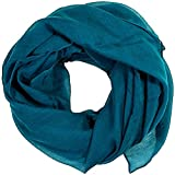 Women scarves plain lightweight all seasons shawl (Dark teal)