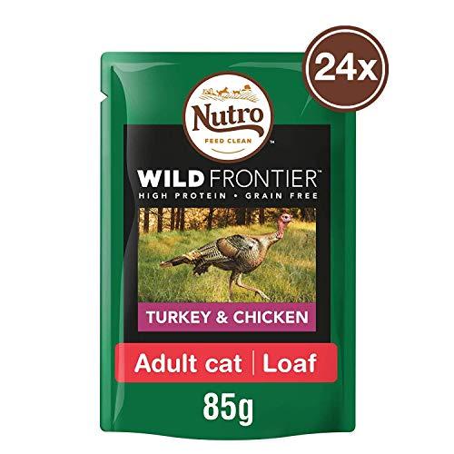 Nutro Katzenfutter Nassfutter Wild Frontier Adult 1+ Huhn & Truthahn in Pastete, 85g (24 Beutel)