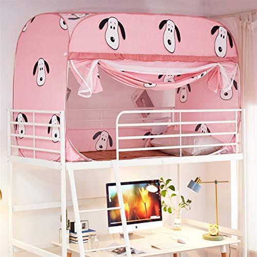 WWYYZ Pop-up tienda de campaña para estudiantes, literas para cama individual, a prueba de polvo, color rosa