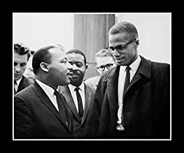 McMahan Photo Archive Malcolm X and Dr. Martin Luther King, Jr. (8x10 inches - Framed Art Print - Black Frame)