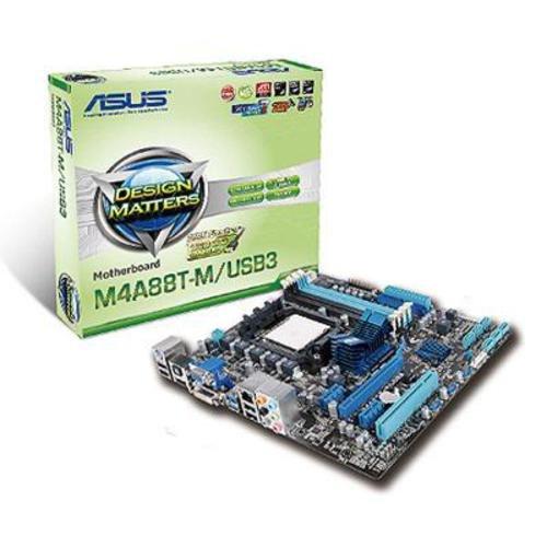 Asus M4A88T-M Mainboard Sockel AMD AM3 Micro ATX DDR3 Speicher