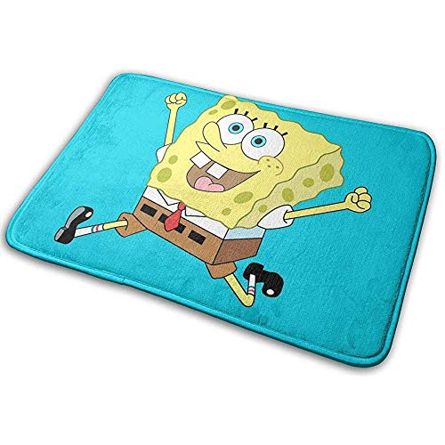 Liumt Antislip Welcome voetmat Running Spongebob Indoor Outdoor Indoor Outdoor Ingang tapijt voetmatten schoenenafveger 40cm x 60cm