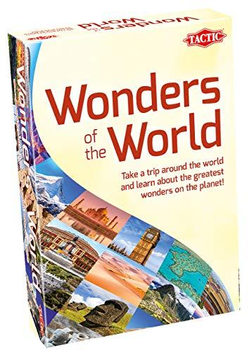 Tactic 56417 Wonders Wonders Know-Board, Geographie, Lerne Punkte | Fakt-verpacktes Spiel für Familien | Welt-Quiz | bis zu 6 Spieler / Teams | Alter 8+, Multi