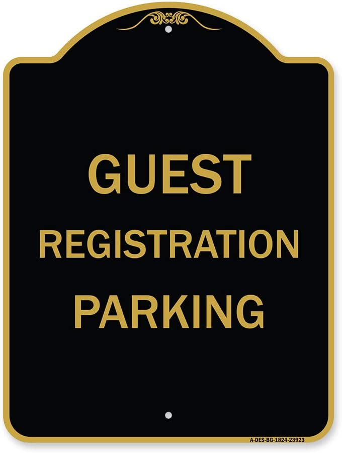 SignMission Designer Series Sign Registration Parking Guest - Spring new Shipping included work