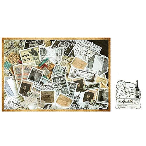 Qinlee Vintage Muster Notizbuch Aufkleber Fotoalbum Sticker DIY Handbuch Tagebuch Dekoration Sticker