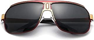 Fashion Polarized Uv400 Driving Vintage Eyewear Men's Sunglasses Retro (Color : Red)