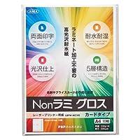 アジア原紙 レーザープリンター用紙 Nonラミ グロス 高光沢耐水紙 カードタイプ 10枚 LBPW-NC(10) 【まとめ買い3冊セット】