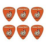Guess What Chicken Butt Funny Novelty Guitar Picks Medium Gauge - Set of 6